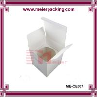 Wholesale White paper board candle box/Custom cube candle paper box with paper insert ME-CE007 from china suppliers