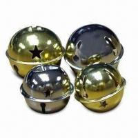 Wholesale L-shaped Jingle Bell with Nickel or Brass-plated Finish, Available in Various Sizes from china suppliers