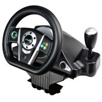 Buy cheap video game steering wheel gaming racing car wheel with foot pedal for PC, PC360(X-INPUT node in PC), PS2, PS3 from Wholesalers