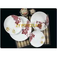 30 Piece Coupe Dinner Plates Durable Safe For Disinfection Cabinet , Round Coupe Plate For 6 for sale