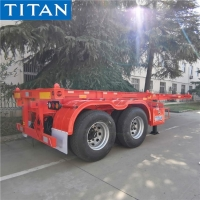 China 2 Axle 20 ft Shipping Container Trailer Chassis for Sale in Nigeria on sale