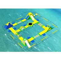 China Inflatable Backyard Water Park / Inflatable Aqua Park Size 25 * 25m on sale