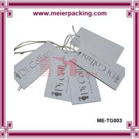 Wholesale Sliver embossed logo brand white paper hangtags for garment ME-TG003 from china suppliers
