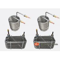 Buy cheap Industrial Stainless Steel Tube Coil Heat Exchanger For Water Chiller / Water Tank from wholesalers
