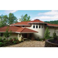 Wholesale Corrugated Double Roman red / brown Low Pitch Roof Tiles , Wave roofing shingle from china suppliers