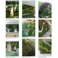 Wholesale hot sale greenery wall artificial plant wall artificial fake wall hang plant for indoor from china suppliers