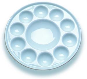 Wholesale 10 Wells Paint Mixing Palette Art Paint Set , Round Porcelain Watercolour Palette from china suppliers