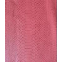 Wholesale Pink Color PVC Synthetic Leather Embossed Pattern Elastic Strenghth Thickness 0.75mm  from china suppliers