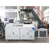 Buy cheap plastic PP PE PVC water electric supply double pipe/ profile/ pelletizing extrusion machine production line from wholesalers
