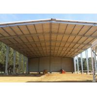 China Metal Farm Fodder storage Open Bay Hay Sheds / Light Steel Structure Buildings for sale