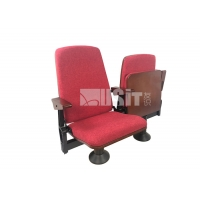 China Customized Fabric Folding Church  Lecture Seating Auditorium Chairs Wodden Arm on sale