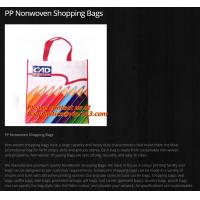 Wholesale Custom Logo Printed Foldable Eco Shopping Folding PP Non woven Bag, eco reusable laminated promotional pp non woven bag from china suppliers