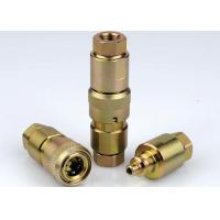 Wholesale Poppet Valve High Pressure Hydraulic Couplings , Chrome Three High Pressure Fittings from china suppliers