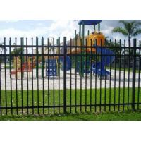 Wholesale Decorative Spear Top Security Zinc Steel Fencing , Metal Three Rails from china suppliers
