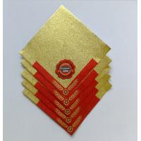 Wholesale Self adhesive aluminium foil beer label beer bottle neck aluminium labels Embossed Printed Beer Bottle Foil Labels from china suppliers
