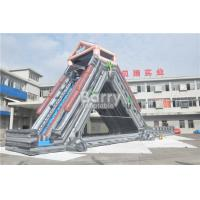 Quality Grey Summer Commercial Splash Giant Inflatable Water Slide 25x4.3x9.5M for sale