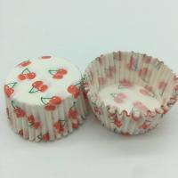 Wholesale Cherry Pattern Greaseless Cupcake Liners , Muffin Cake Paper Cups For Children Party from china suppliers