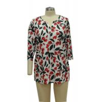 Wholesale Flowered Printed Fancy Ladies Casual T Shirts Women
