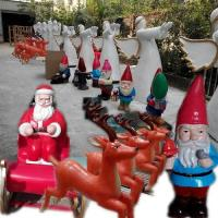 Quality event party celebration christmas  party decoration colorful statue Santa man in garden/ hall/ supermarket for sale