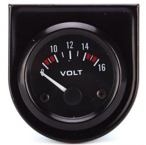 China 8-16V Professional Pointer Car Voltage Meter Auto Voltage Gauge Sensor High Sensitivity Easy Operation with White Light on sale
