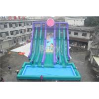 Quality Cool 5 Lanes Giant Inflatable Water Slide With Big Pool / Adult Inflatable Games for sale