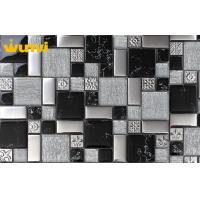 Wholesale OEM Graceful Black And White Mosaic Bathroom Floor Tiles 8mm Thickness from china suppliers