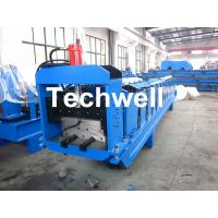 Wholesale Metal Top Ridge Tile Roll Forming Machine With 15 Forming Stations , PLC Control System from china suppliers