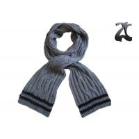 Wholesale Men Cable Knitted Neck Scarf , Thick 100% Acrylic Chunky Knitted Winter Scarf from china suppliers