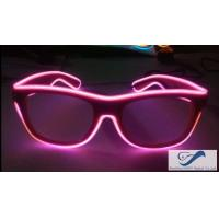 Quality Shining Plastic El Wire Glasses Colorful Frames For Christmas Festival Party for sale