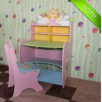 Wholesale Superway Wooden children adjustable learning desk with chair set for girls from china suppliers