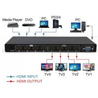 Buy cheap HDMI2.0 4 in 4 out Matrix switch and splitter support 4K from wholesalers