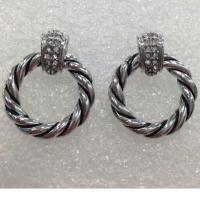 Wholesale (E-12) High Quality! Design Jewelry Gold Plated Austrian Crystal Pave CZ Earrings from china suppliers