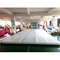 Wholesale Indoor Training Air Track Gymnastics Mat , Grey Squre Prix Air Track from china suppliers
