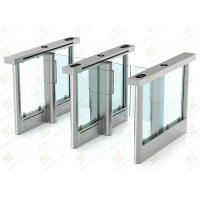 Wholesale Security Barrier Turnstile Gate Speed / Glass Wing Turnstile Entry Systems Servo Driver from china suppliers