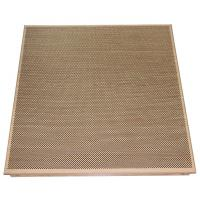 Fireproof Clip In Ceiling Wooden Color Dia 1.8 mm Perforation 600mm x 600 mm for sale
