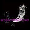 Factory wholesale acrylic shoe rack / plexiglass shoe display holder for sale