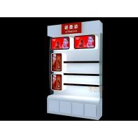 Quality Perspex Retail Floor DisplayCosmetic Storage OrganizerWhite With Drawer for sale
