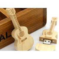 Wholesale Guitar shaped USD 3.0 personalized flash drive gift with laser engraved logo from china suppliers