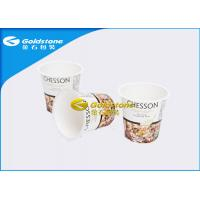 China Automatic Forming Plastic Yogurt Cups With Curved Surface Logo Printing on sale
