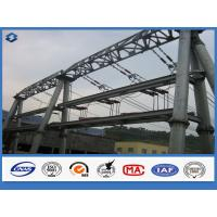 Wholesale Hot dip Galvanized Overhead Line Substation Structure Electric Steel Pole from china suppliers