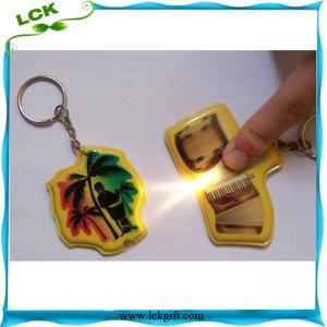 China LED keychains, reflective PVC keychain with light, promotion plastic key ring-LK-L003 on sale
