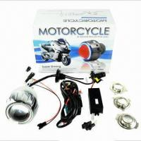 Wholesale Motorcycle HID headlight projector lens kits with angel eyes  from china suppliers