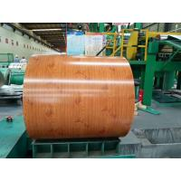 China Wood Grain Color Hot Rolled Steel Coil , Building Decoration Steel Coil Stock on sale