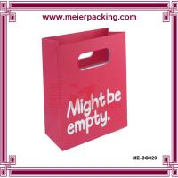 Wholesale Die-cut handle red paper bag, Carrying Die-out Paper Custom Bag ME-BG020 from china suppliers