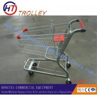 Wholesale Zinc Plated Supermarket Shopping Trolleys Cart Unfolded For Export from china suppliers