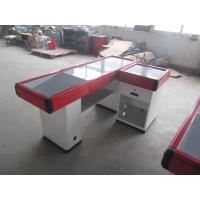 Wholesale Red Aluminum Bumper Cash Counter Table , Simple Retail Checkout Counter from china suppliers