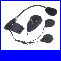 China 500m motorcycle bluetooth helmet headset intercom for two riders with FM radio on sale