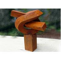 Wholesale Creative Modern Public Rusted Corten Steel Sculpture For Commercial from china suppliers