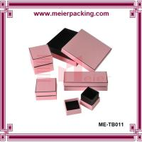 Wholesale paper pink gift box for jewelry set ME-TB011 from china suppliers