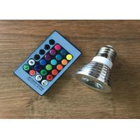 Wholesale Shopping Mall RGB 3 Watt LED Spot Bulbs With Remote Control 16 Colors 24 Keys from china suppliers